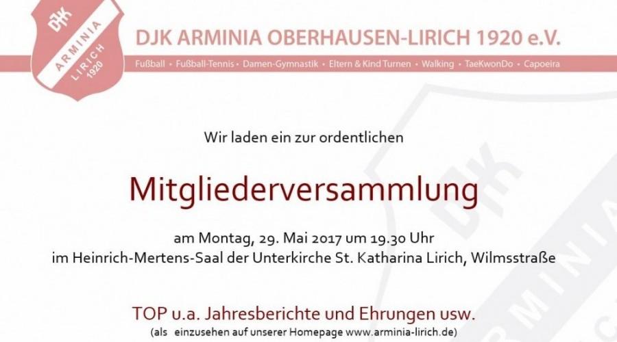 Foto zum Beitrag: DJK Arminia Lirich Mitgliederversammlung 2017