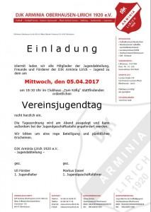 Vereinsjugendtag 2017-Einladung