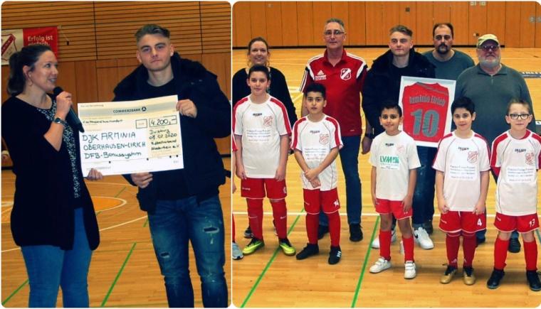 Foto zum Beitrag: Jugendabteilung erhält einen Scheck für seine Nachwuchsarbeit!!!