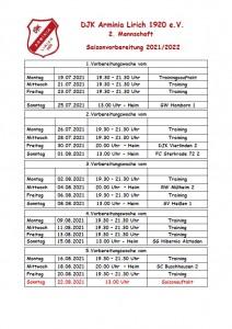2M_DJK Arminia Lirich - Vorbereitungsplan 2021 Sommer