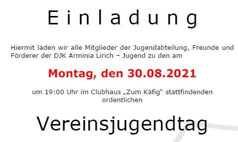 Foto zum Beitrag: Einladung zum Vereinsjugendtag 2021